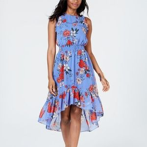 NWT Vince Camuto Floral Chiffon High/Low Dress